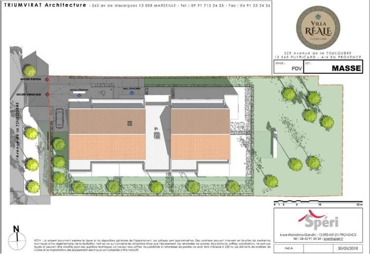 Plan masse Villa Réale Puyricard